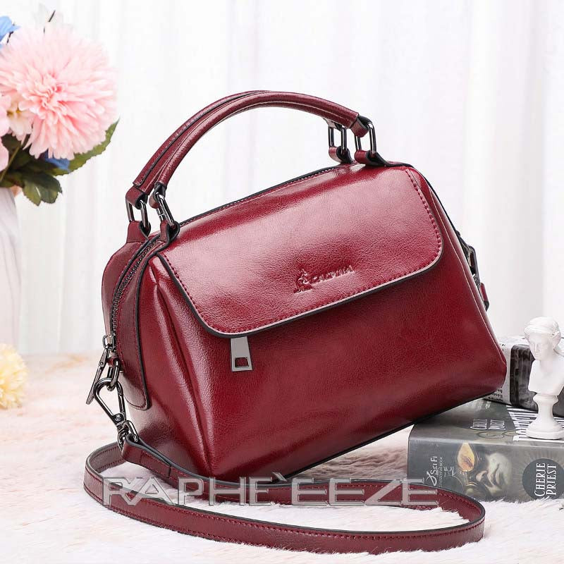 Stylish Tote Bag for Women - Wine Red