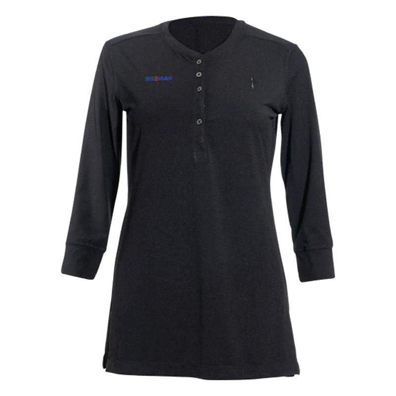 Black Front Button Polo With Cross Logo UV