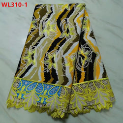 Embroidery Net Lace Rich Cotton Design 5 Yards