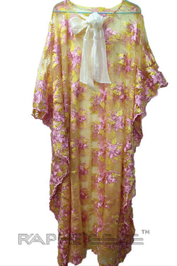 Bone Cream Caftan Maxi Dress