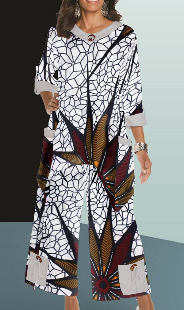 Ankle Length African Pant Suite