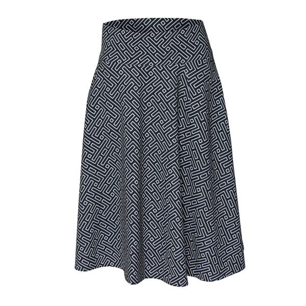 RAPHEEZE Designed Wide Flowy Midi Skirt