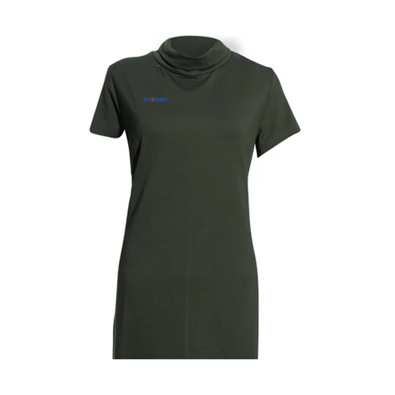 Light Green High Neck Comfy Dress Top By Rapheeze