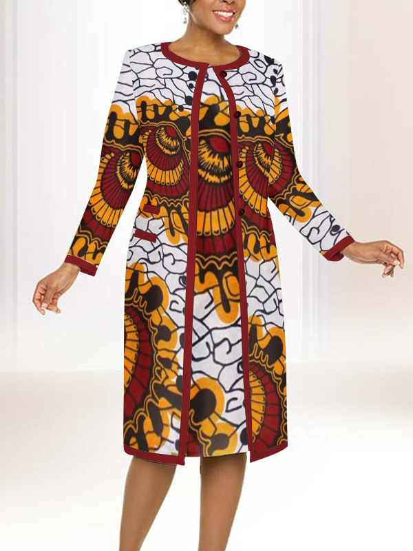 Below Knee-Ankle Length African Dress Suite