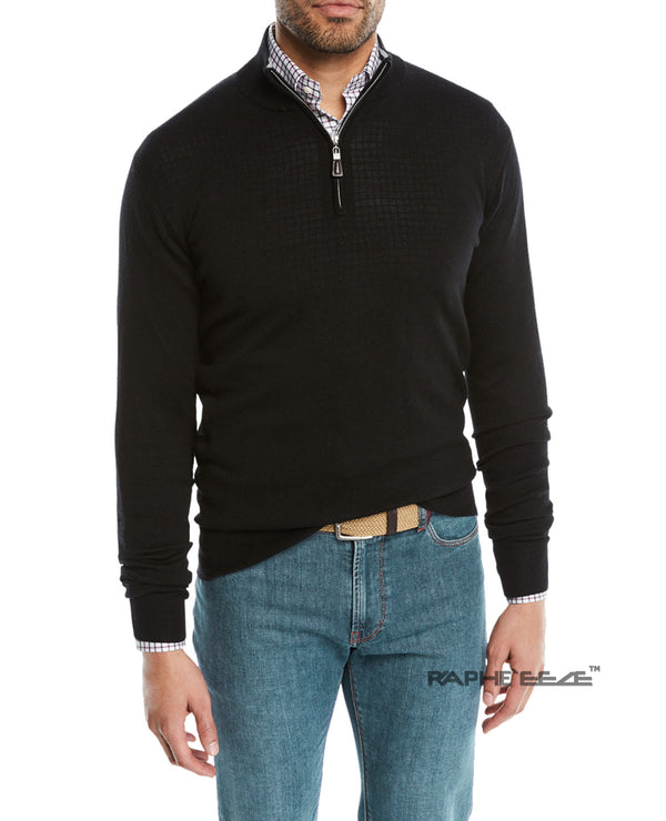 Men's Polo Shirt Golf Sports Long Sleeve T-Shirt Jersey Casual Long Sleeve Tops - Black Color