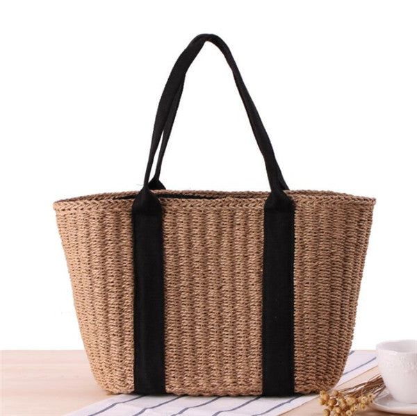 Women's Beach Side Straw Totes Handbag