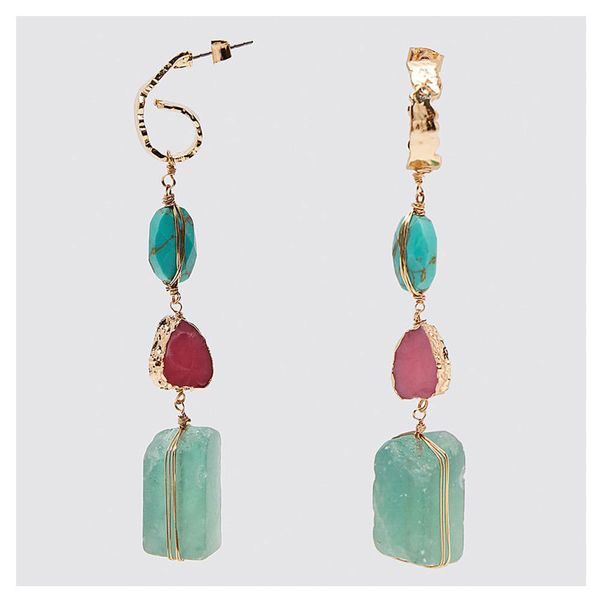 African Geometric Alloy Dangle Earrings for Women's