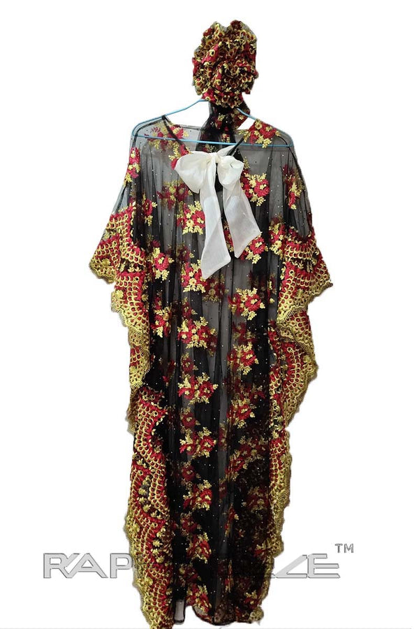 Multi Color Caftan Lace Maxi