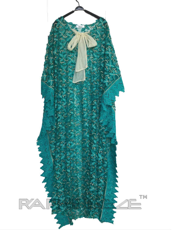 Beautiful Designed Cyan Color Long Party Gown Maxi Style - 1 pcs with S, M, L, XL size