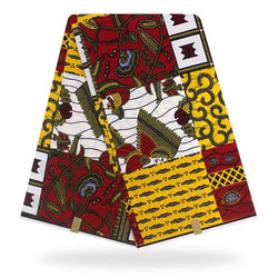 Native African Design Printed Wax Fabric