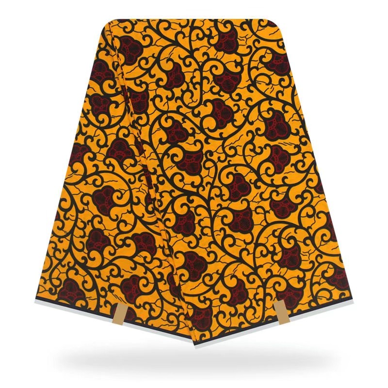 African Multi Color Printed Cotton Wax