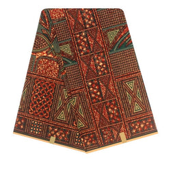 Chocolate Brown Multi Pattern Printed Wax
