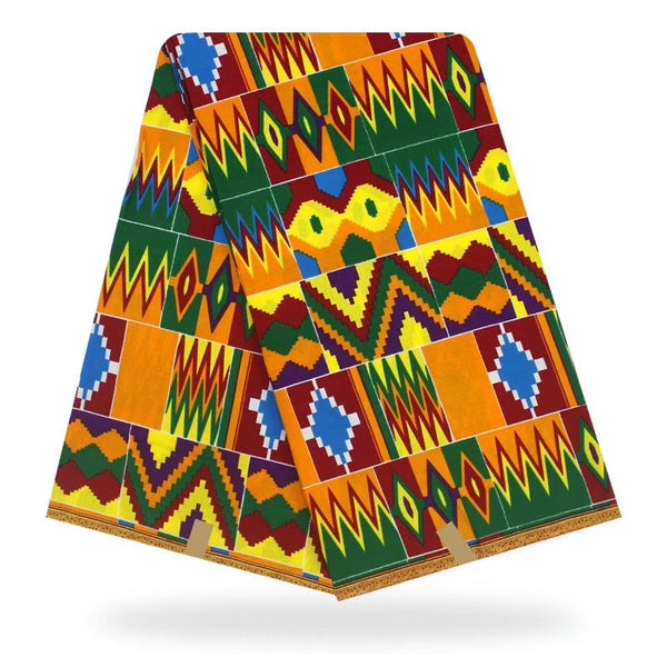 Ghana Wax Design Kente English Cotton Mixed Color Prints