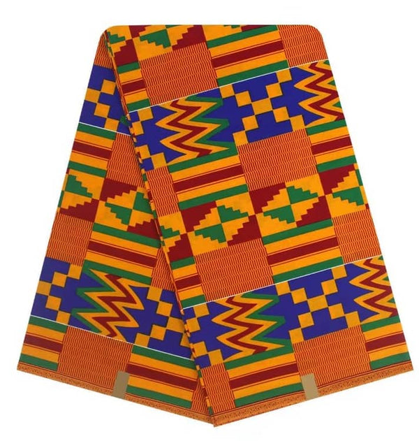 African Ghana Design Printed in Holland 100% Wrinkle Free Cotton