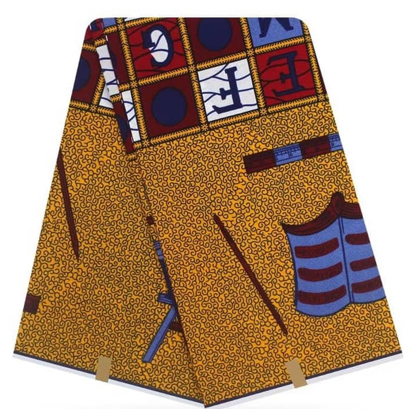 African Multi Color Wax Print Imported Fabric