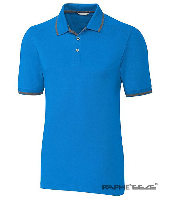 Best Sports Polo T-Shirt for Outdoor Man Slim Fit with Neck Button - Light Blue Color