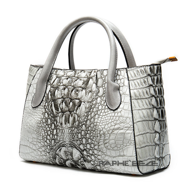 White Colored Premium Vintage Stylish Tote Handbag for Woman