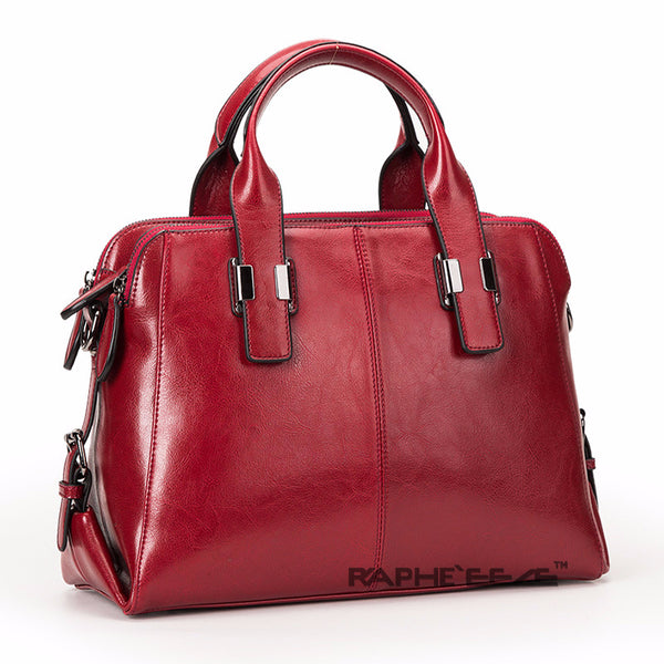 Wine Red Colored Premium Vintage Stylish Tote Handbag for Woman