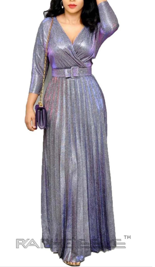 Sliver Purple Gloss Long Dress
