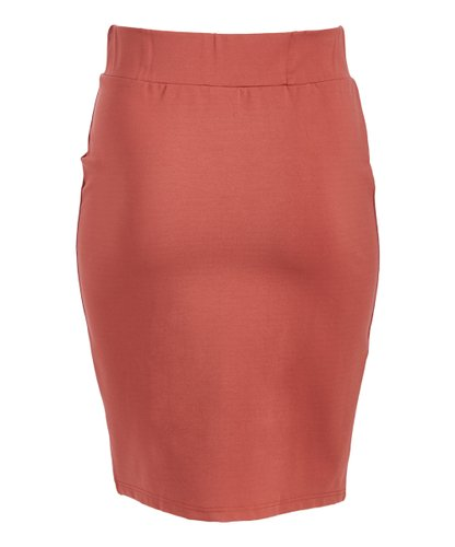 English Italian Half Button Marsala V-Skirt