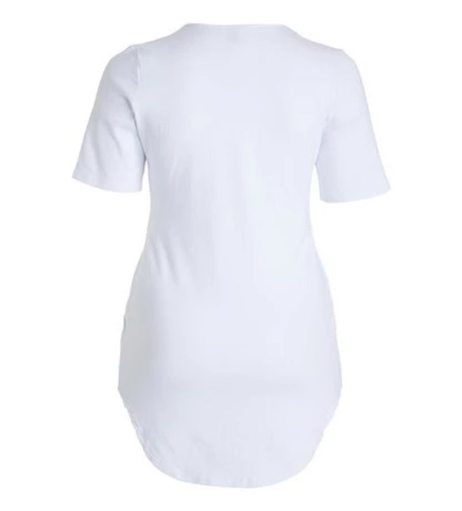 Bright White Super Stretchy Cotton Tunic