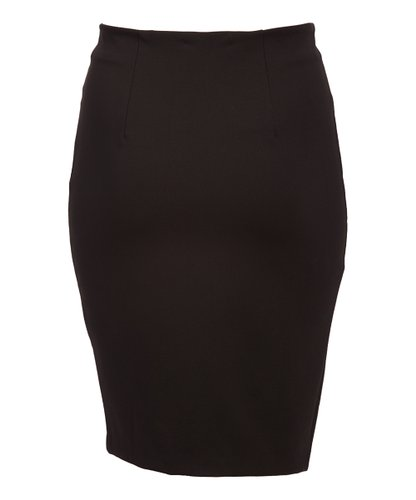English Italian Hip Curvy Black Pencil Skirt