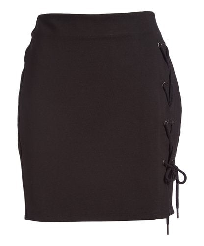 Rapheeze ABCG Mini Taupe Personality Black Skirt