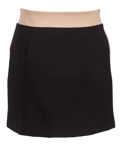 Rapheeze American Tradition Black With Taupe Pocket Mini Skirt