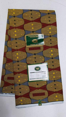 Mix Patter Designed Colorful Wax Printed Original Kente Fabrics