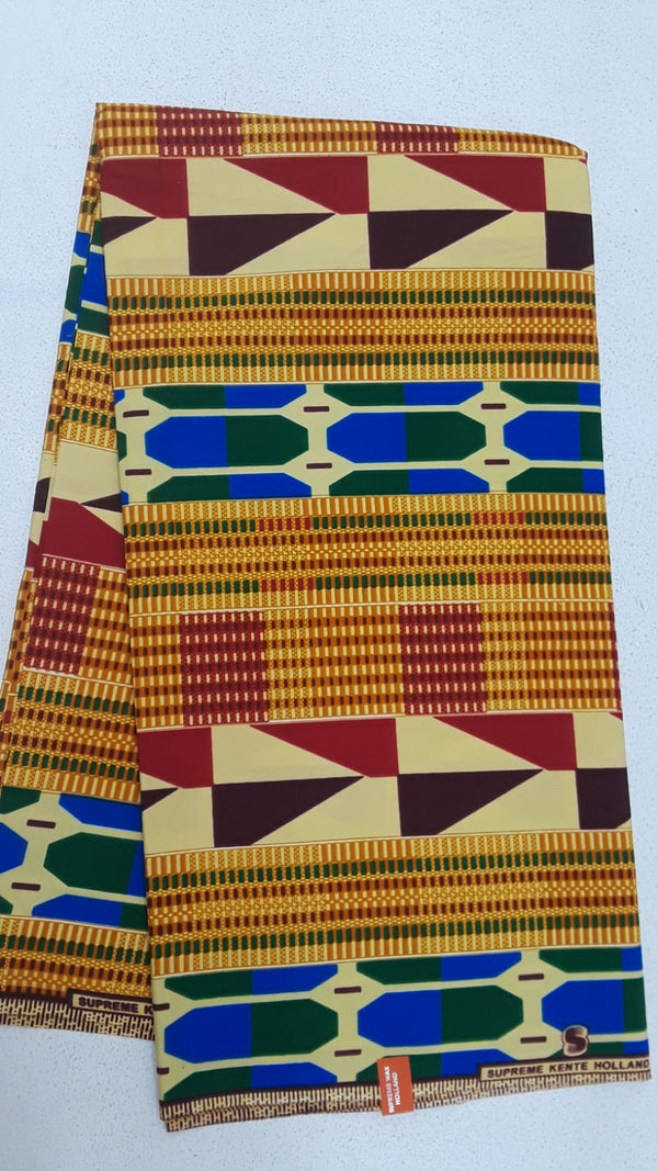 A Classic Designed Original Kente Fabrics - Multi Color
