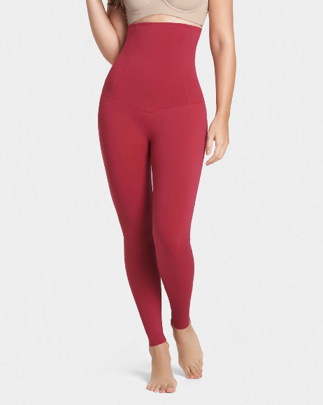 Dark Red Best Seller Extra High Waisted Firm Compression Legging - For Store Walk-in Phone Orders Only