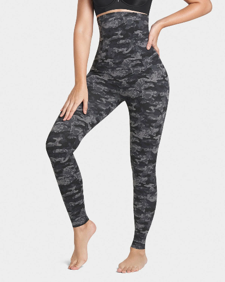 Camo Black Gray Rapheeze Best Seller Extra High Waisted Firm Compression Legging - Store Or Phone Orders Onlu