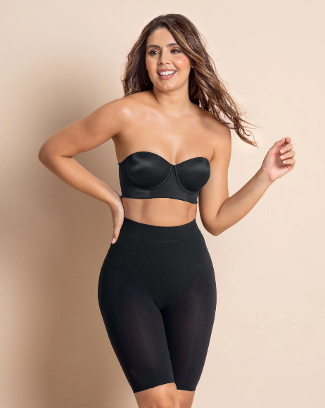 Black Seamless High Waist Shapewear with Thigh Compression Store Walk-in or Phone Orders Only