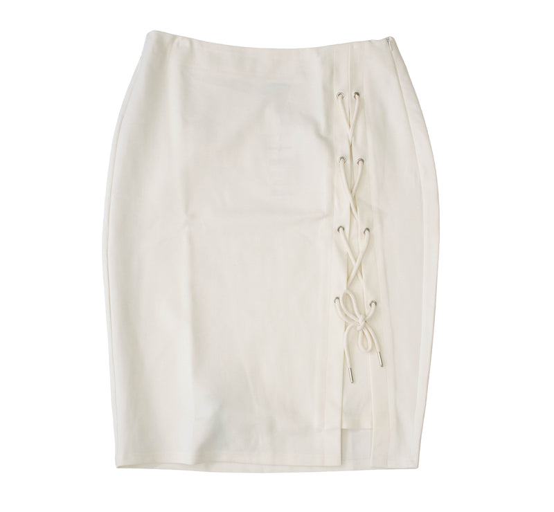 Rapheeze ABCG Mini Knee Length White Personality Skirt