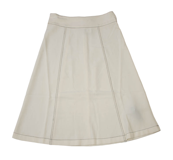 Rapheeze Designed Midi Wide Skirt with Hem Fringes