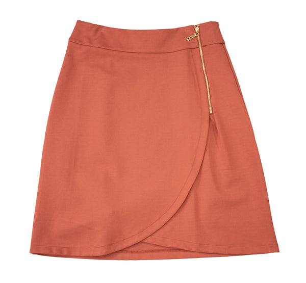 English Italian PolySpandex Marsala Skirt