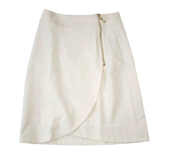 English Italian PolySpandex White Skirt
