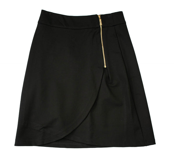 English Italian PolySpandex Black Skirt