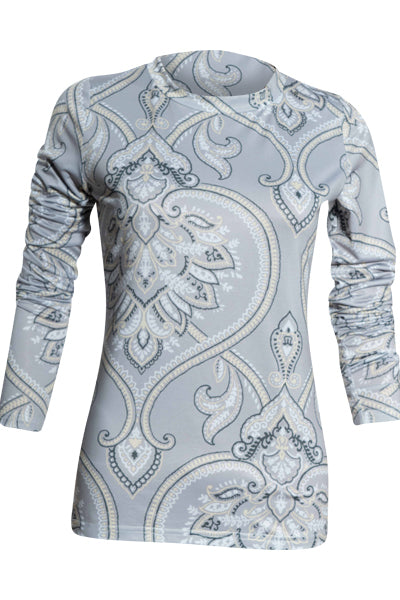 Paisley Contouring T-Top Extra Long Sleeve