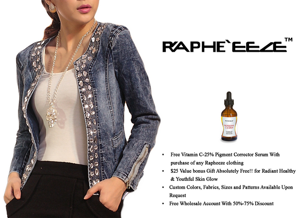 Casual Round Neck Retro Style Diamante Short Denim Jacket with Long Sleeve for Woman