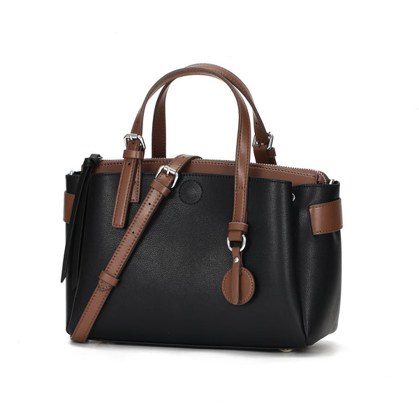 Eye Catching Designed Italian Leather Made Casual Bag for Women - Black