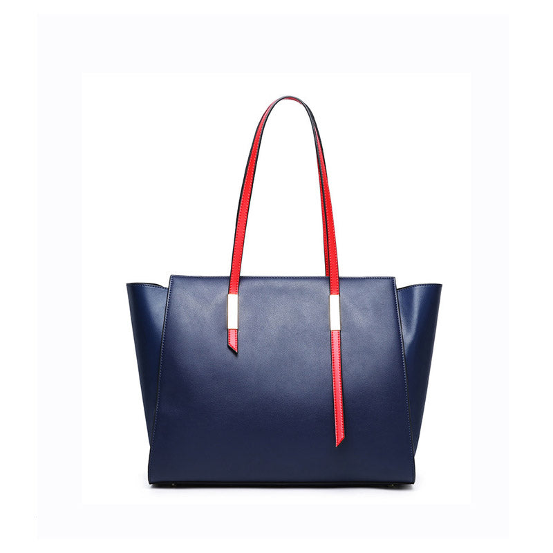 Trendy & Stylish Designed Genuine Italian Leather Made Large Tote Bags for Women - Blue
