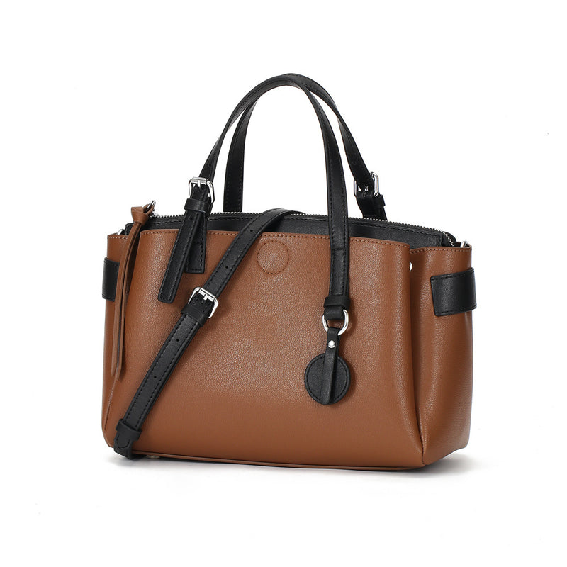Eye Catching Designed Italian Leather Made Casual Bag for Women - Brown