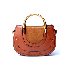Unique and Trendy Designed Genuine Italian Leather Made  Handbag for Ladies - Brown