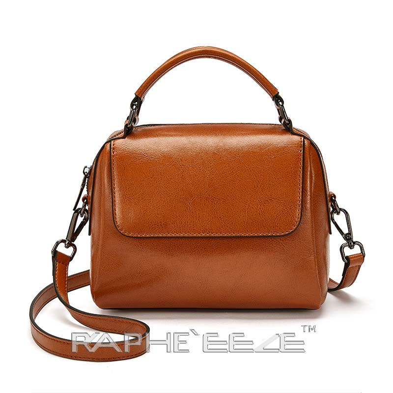 Classic Tote Handbag for Woman - Brown Color