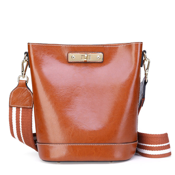 Beautiful Designed Genuine Italian Leather Made High End Purses for Women - Brown