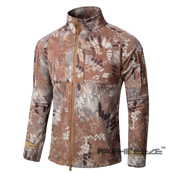 Unique Camouflage hoodie Jacket for men with zip-front closure and split-kangaroo pockets