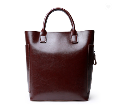 Lucrative Designed Cowhide Italian Leather Bucket Bags for Women - Coffee
