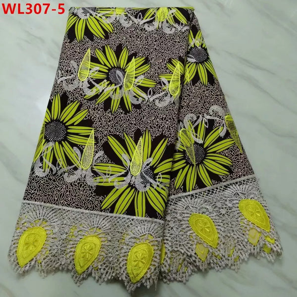 Super Stylish Lace Fabrics With Embroidery Net Lace - Yellow & Black