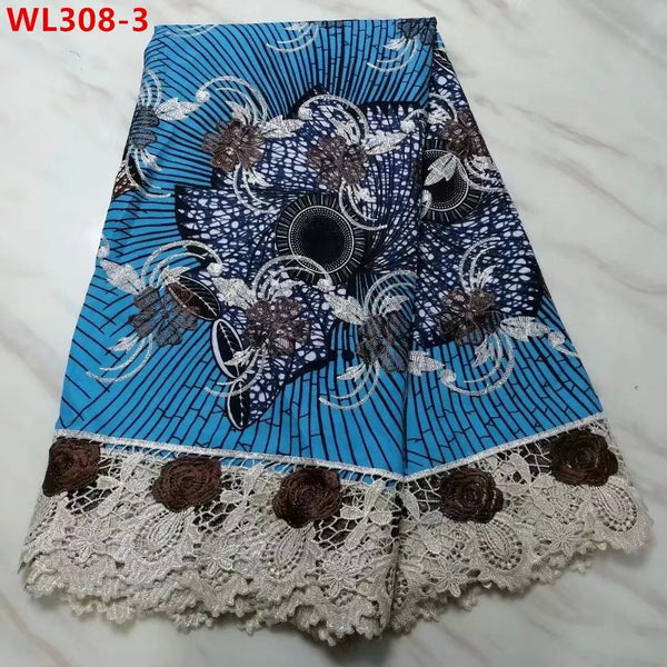 Best Seller Swiss Cotton Embroidered Net Lace Super Wax 5 Yards
